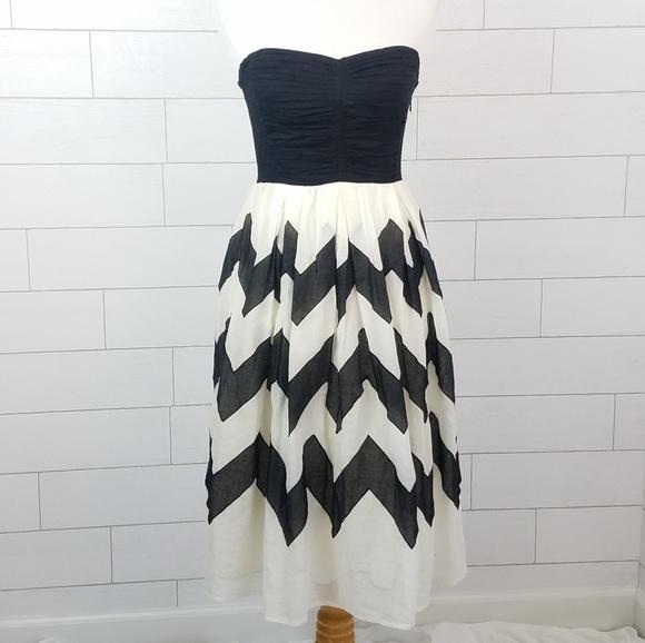fe10b8efc4f61 Anthropologie Dresses | Leifnotes Sz 4 Cherie Chevron Dress Black ...